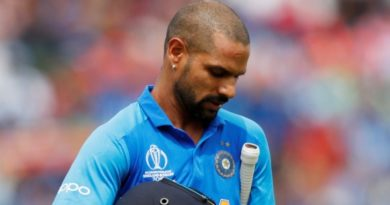 Shikhar Dhawan thumb Injury