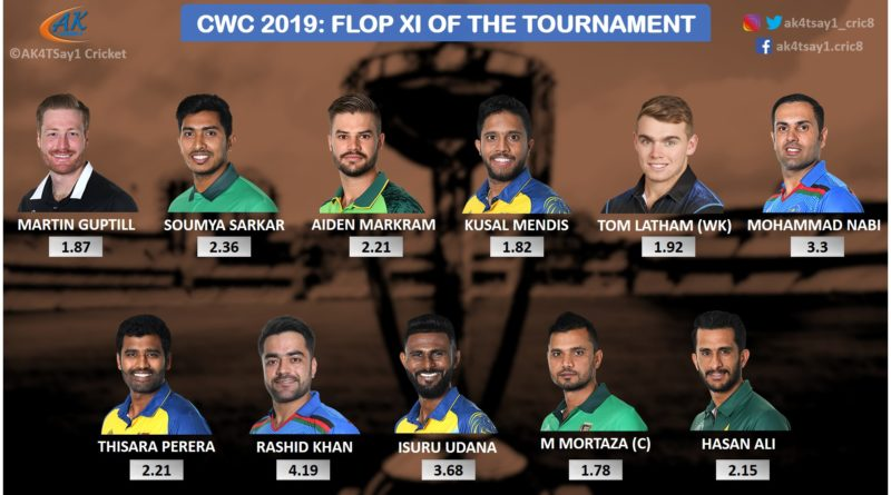 World Cup 2019 Flop 11 of the Tournament