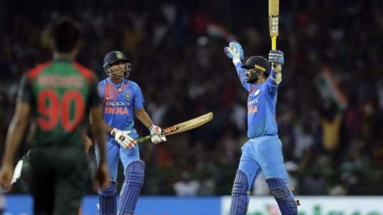 Dinesh Karthik with his heroics in Nidahas Trophy 2018 final | Image Source: BCCI
