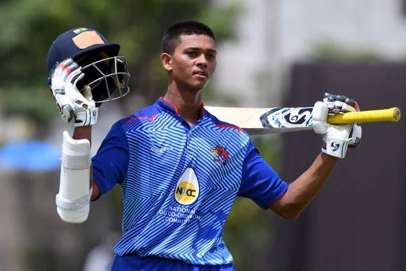 Yashasvi Jaiswal became the first teenager to score a double-hundred in Vijay Hazare Trophy