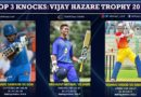 Top knocks Vijay Hazare Trophy 2019
