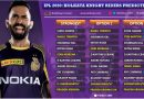 Kolkata Knight Riders, KKR Predicted 11 for IPL 2020