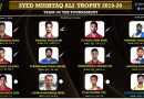 Syed Mushtaq Ali Trophy 2019-20: Dream Team of the Tournament