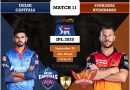 IPL 2020 Match 11 DC vs SRH predicted 11, preview, and top players