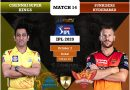 IPL 2020 Match 14 CSK vs SRH predicted 11, preview, and top key players