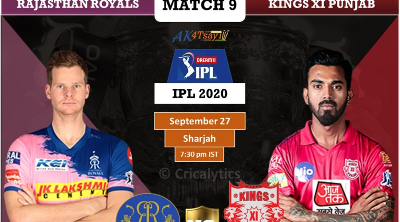 IPL 2020 Match 9 RR vs KXIP predicted 11, preview, and key players