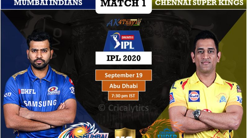 IPL 2020 UAE Match 1 MI vs CSK Predicted 11 and Preview