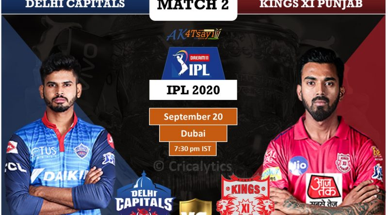 IPL 2020 UAE Match 2 DC vs KXIP Predicted 11