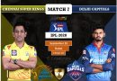 IPL 2020 UAE Match 7 DC vs CSK predicted 11 and preview