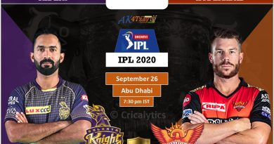 IPL 2020 UAE Match 8 KKR vs SRH predicted 11 and preview