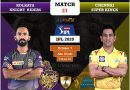 IPL 2020 UAE Match 21 KKR vs CSK predicted 11, preview, and key players