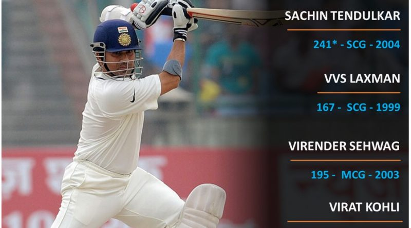 India vs Aus top knocks by Indians in Tests in Australia