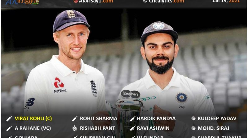 India vs England 2021 team india official test squad for first two tests