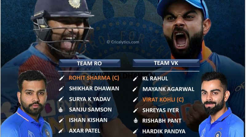 Comparing the two best playing 11 for team india Virat Kohli vs Rohit Sharma