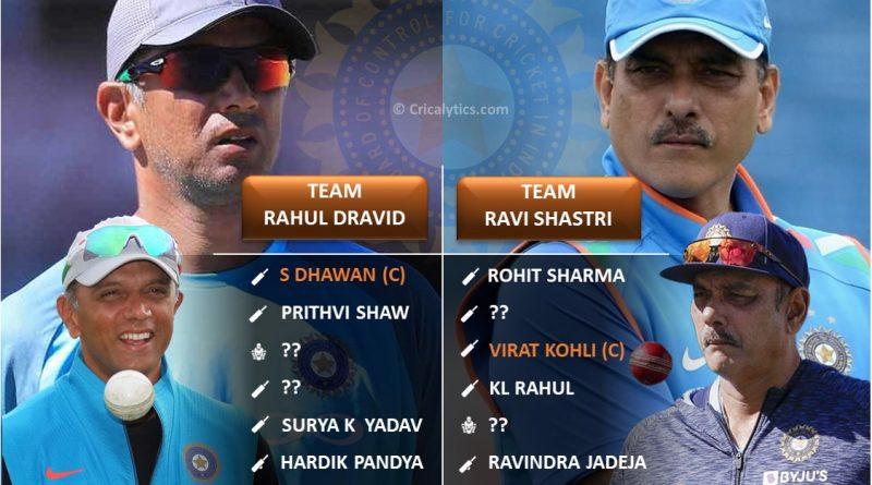 Comparing Two best t20 playing 11 for Team India with Rahul Dravid and Ravi Shastri as coach