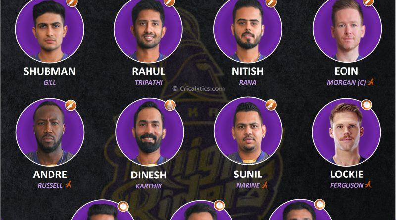 IPL 2021 best playing 11 for Kolkata Knight Riders, KKR for Second leg in UAE